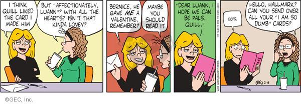Comic Strip Greg Evans  Luann 2011-02-18 affection