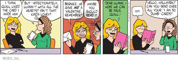 Comic Strip Greg Evans  Luann 2011-02-18 romance