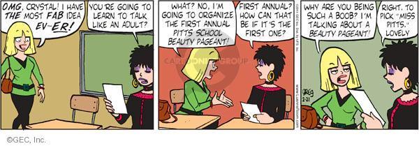 Comic Strip Greg Evans  Luann 2011-02-21 begin