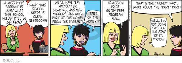 Cartoonist Greg Evans  Luann 2011-02-22 price