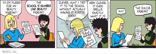 Comic Strip Greg Evans  Luann 2011-02-28 sly