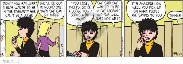 Comic Strip Greg Evans  Luann 2011-03-11 sarcastic