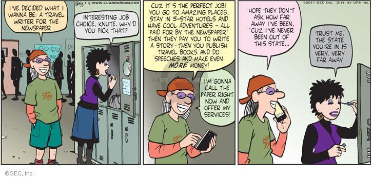Comic Strip Greg Evans  Luann 2011-03-13 school choice