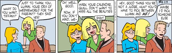 Comic Strip Greg Evans  Luann 2011-03-18 agreement