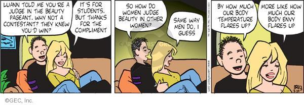 Comic Strip Greg Evans  Luann 2011-03-29 beauty contest