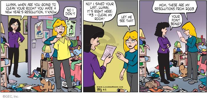 Comic Strip Greg Evans  Luann 2011-04-03 previous