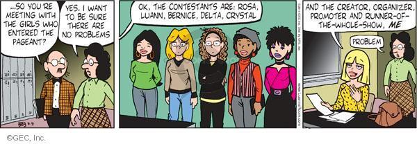 Comic Strip Greg Evans  Luann 2011-04-04 ego