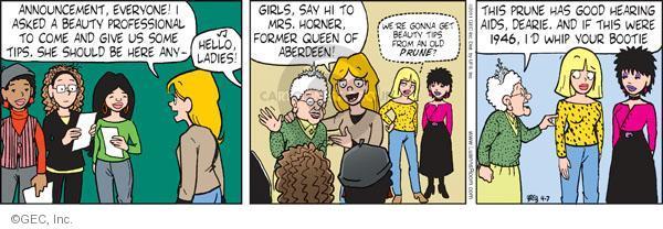 Comic Strip Greg Evans  Luann 2011-04-07 dearie