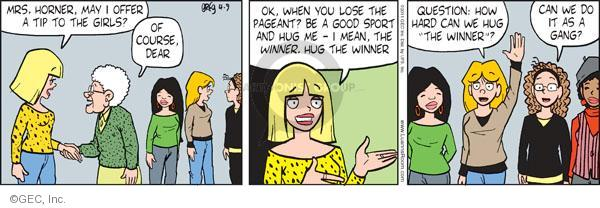 Comic Strip Greg Evans  Luann 2011-04-09 sport