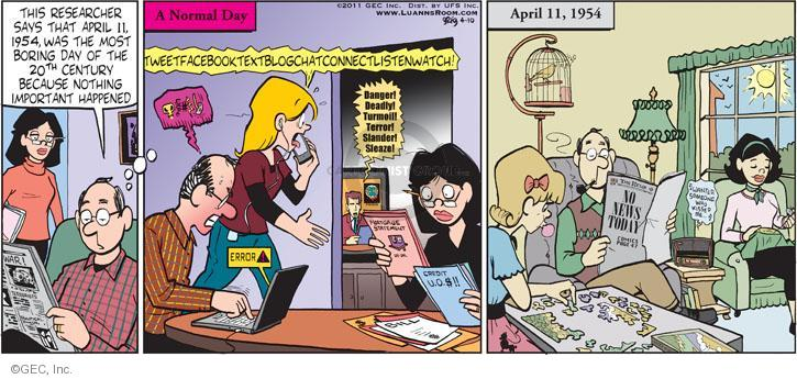 Cartoonist Greg Evans  Luann 2011-04-10 April