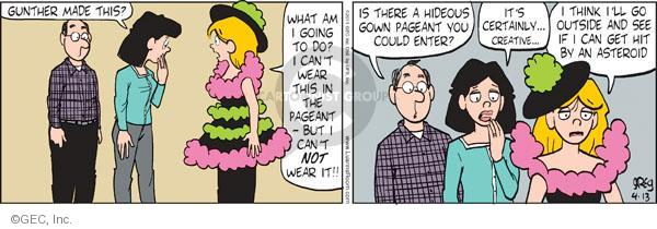 Comic Strip Greg Evans  Luann 2011-04-13 dilemma