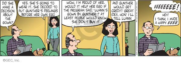 Comic Strip Greg Evans  Luann 2011-04-15 proud