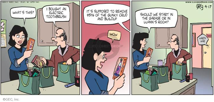 Comic Strip Greg Evans  Luann 2011-04-17 sarcastic