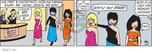 Cartoonist Greg Evans  Luann 2011-04-20 first lady