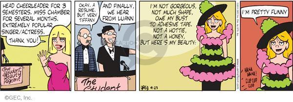 Comic Strip Greg Evans  Luann 2011-04-23 singer