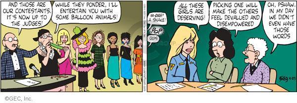Comic Strip Greg Evans  Luann 2011-04-25 feel