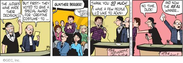 Cartoonist Greg Evans  Luann 2011-04-26 real time