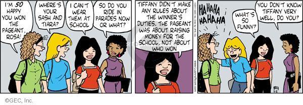 Comic Strip Greg Evans  Luann 2011-05-02 pageant