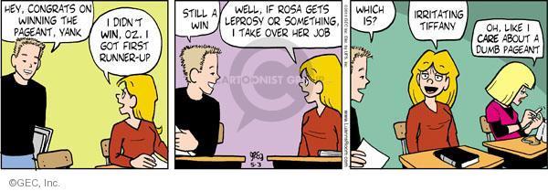 Comic Strip Greg Evans  Luann 2011-05-03 sore loser