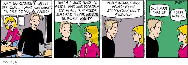 Comic Strip Greg Evans  Luann 2011-05-09 romance