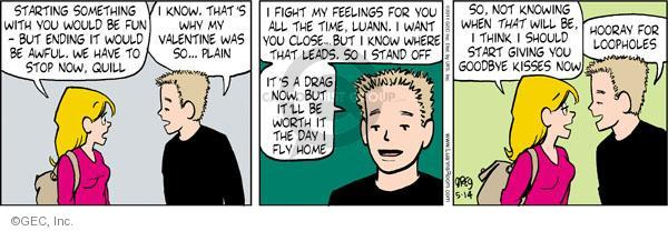Comic Strip Greg Evans  Luann 2011-05-14 kiss