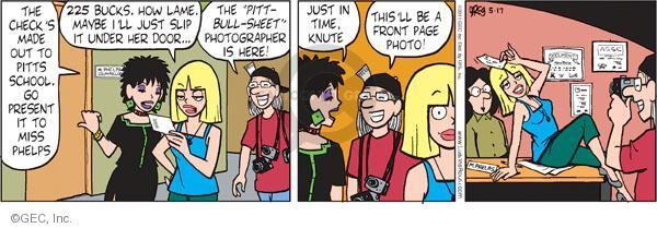 Comic Strip Greg Evans  Luann 2011-05-17 photographer