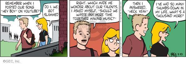 Comic Strip Greg Evans  Luann 2011-05-23 post