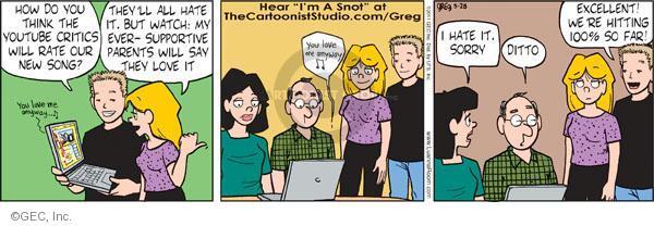 Comic Strip Greg Evans  Luann 2011-05-28 ditto