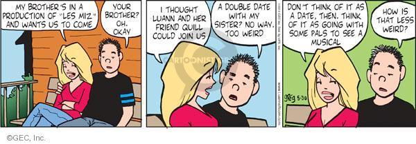 Cartoonist Greg Evans  Luann 2011-05-30 double date