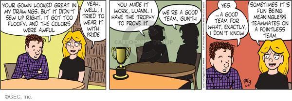 Comic Strip Greg Evans  Luann 2011-06-09 pointless
