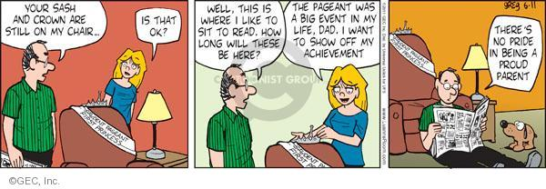 Comic Strip Greg Evans  Luann 2011-06-11 proud