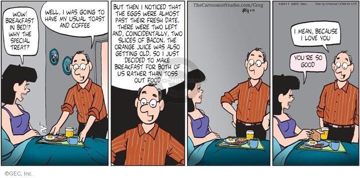 Comic Strip Greg Evans  Luann 2011-06-12 bed and breakfast