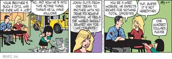 Comic Strip Greg Evans  Luann 2011-06-14 wealth