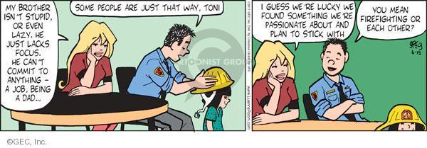 Comic Strip Greg Evans  Luann 2011-06-15 laziness