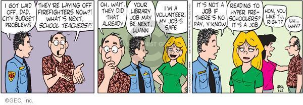 Comic Strip Greg Evans  Luann 2011-06-22 volunteer