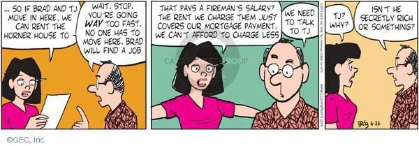 Comic Strip Greg Evans  Luann 2011-06-23 wealth