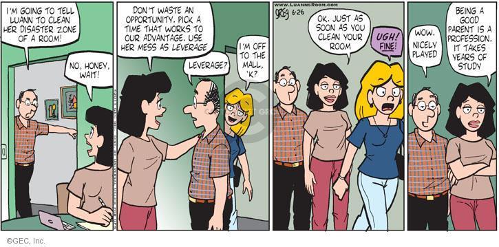 Comic Strip Greg Evans  Luann 2011-06-26 bedroom
