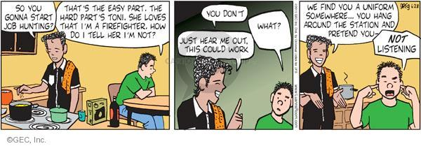 Cartoonist Greg Evans  Luann 2011-06-28 unemployment