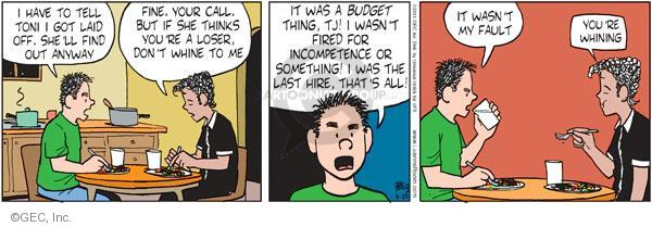 Cartoonist Greg Evans  Luann 2011-06-29 unemployment