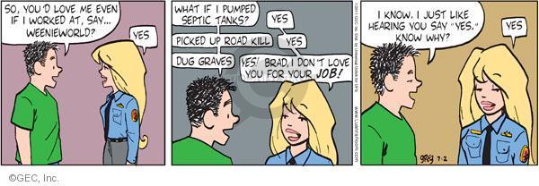 Comic Strip Greg Evans  Luann 2011-07-02 love