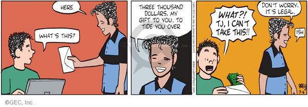 Comic Strip Greg Evans  Luann 2011-07-06 dollar