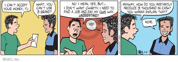 Comic Strip Greg Evans  Luann 2011-07-07 pity