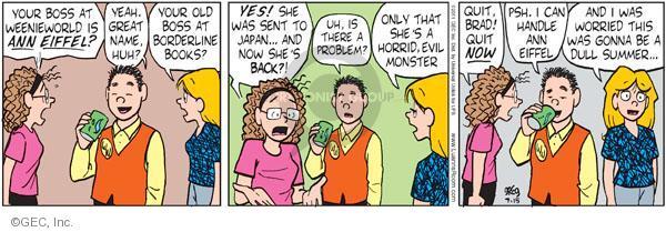 Comic Strip Greg Evans  Luann 2011-07-15 employment