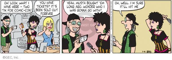 Comic Strip Greg Evans  Luann 2011-07-18 con