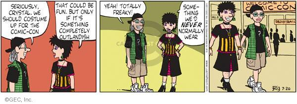 Comic Strip Greg Evans  Luann 2011-07-20 completely