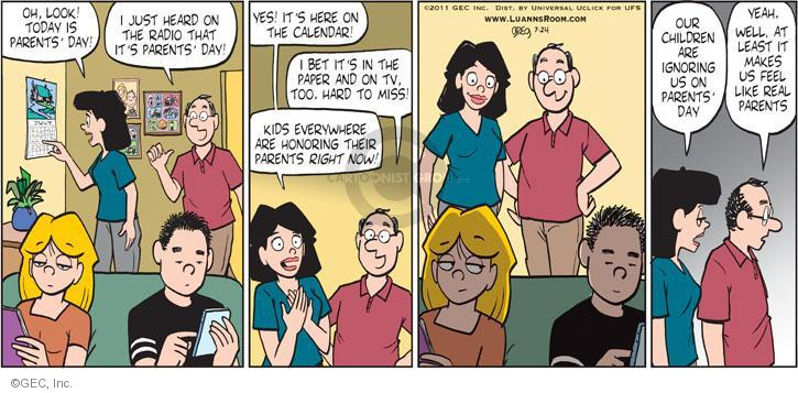 Comic Strip Greg Evans  Luann 2011-07-24 father's day