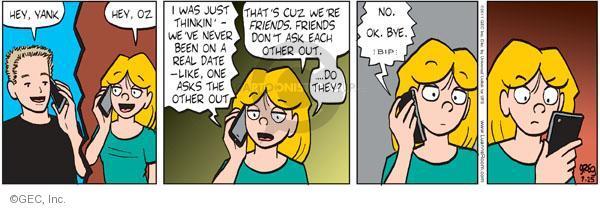 Cartoonist Greg Evans  Luann 2011-07-25 phone call