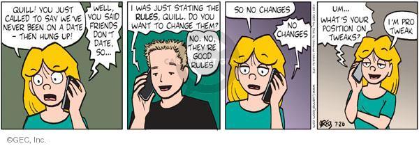 Cartoonist Greg Evans  Luann 2011-07-26 phone call