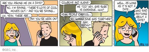 Cartoonist Greg Evans  Luann 2011-07-27 phone call