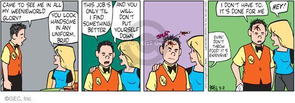 Comic Strip Greg Evans  Luann 2011-08-02 employment